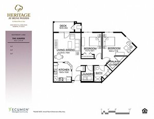 Juniper floor plan at Heritage at Irene Woods, Memphis