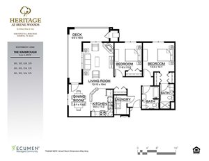 Kimbrough floor plan at Heritage at Irene Woods, Memphis