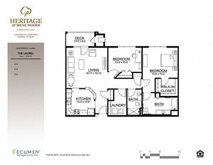Laurel floor plan at Heritage at Irene Woods, Memphis