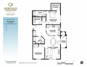 Marquis floor plan at Heritage at Irene Woods, Memphis