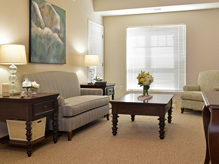 Living Room in Assisted Living at Heritage at Irene Woods, Tennessee, 38125