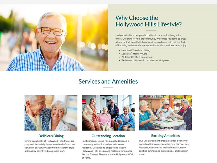 Life Enrichment Events & Activities at Hollywood Hills, A Pacifica Senior Living Community, Los Angeles, CA