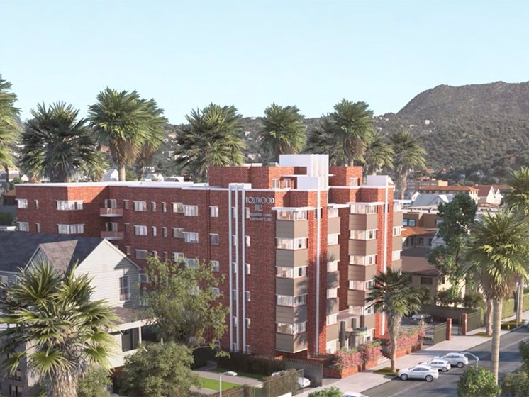 Exterior of Hollywood Hills, A Pacifica Senior Living Community in Los Angeles, California