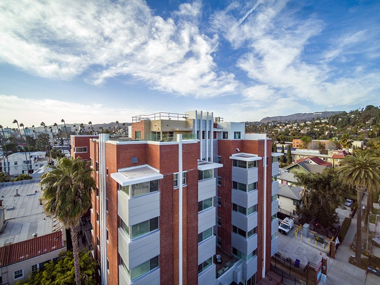 Aerial View Of Property at Hollywood Hills, A Pacifica Senior Living Community, Los Angeles, CA, 90028