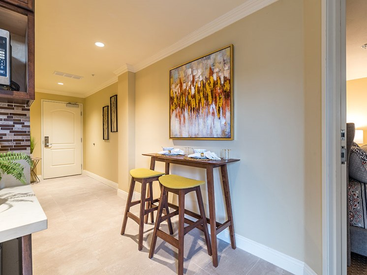 Small Breakfast Table at Hollywood Hills, A Pacifica Senior Living Community, California, 90028