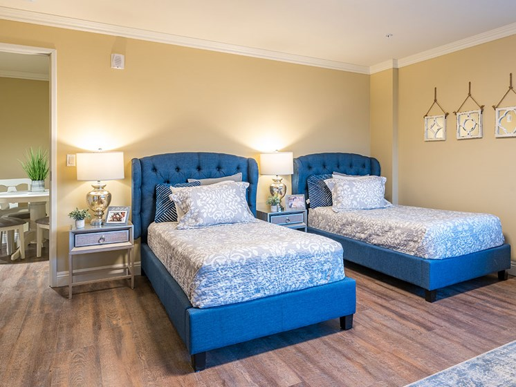 Large Comfortable Bedrooms at Hollywood Hills, A Pacifica Senior Living Community, Los Angeles, CA, 90028