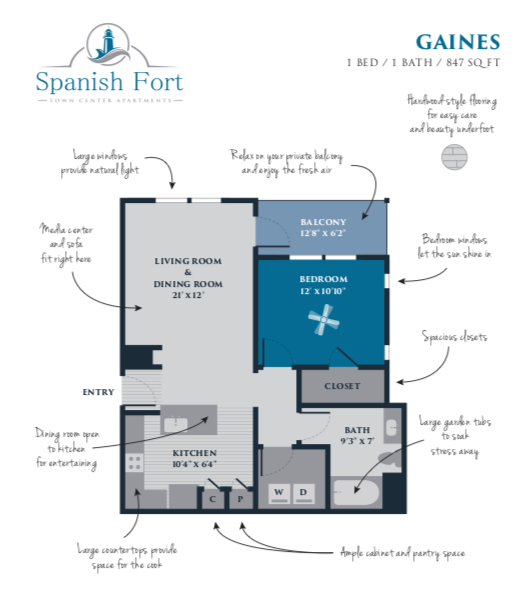 Spanish Fort Town Center Apartments: Floor Plans Of Spanish Fort Town Center In Spanish Fort, AL