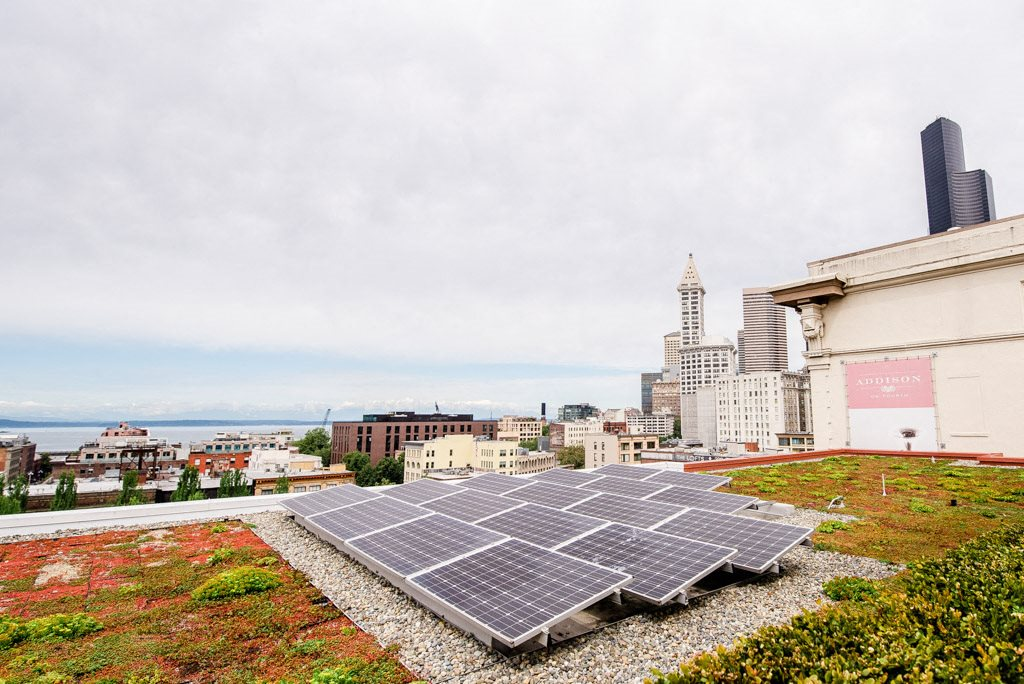 Seattle Apartments - Icon Apartments - Rooftop Solar Panels