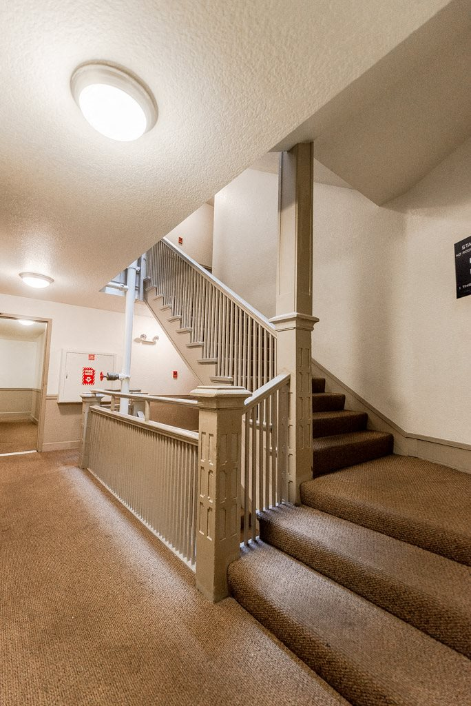 Seattle Apartments - Zindorf Apartments - Building Hallway and Stairs