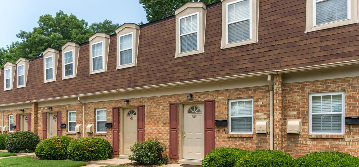 brick exterior at Whispering Oaks Apartment Homes in Portsmouth, VA