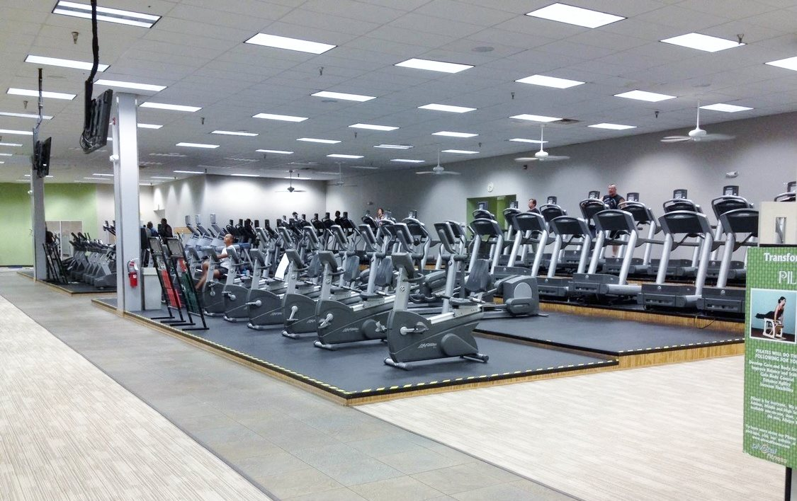 Fitness Center at Chimneys of Greenville apartment homes in Taylors, SC