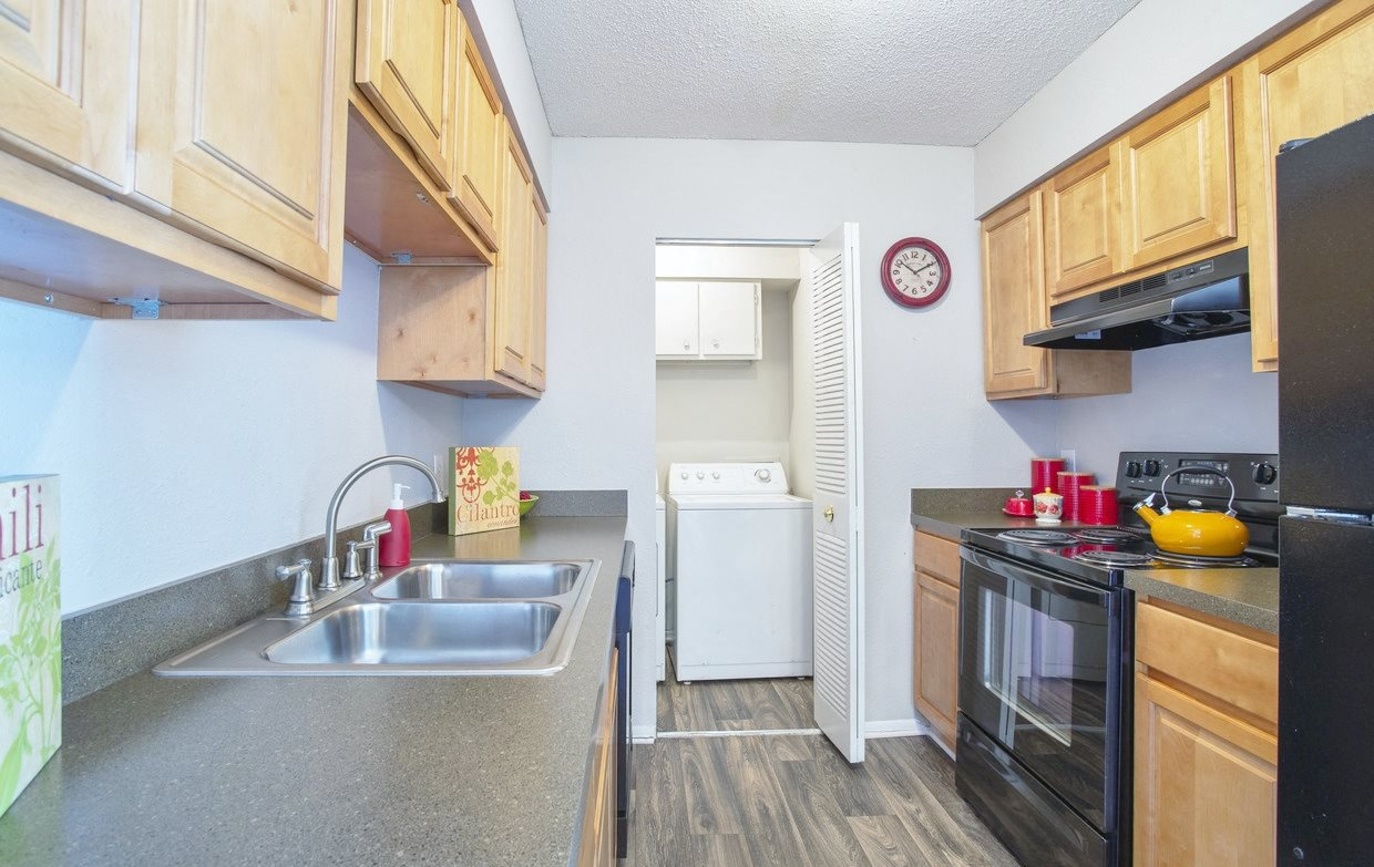 Kitchen at Chimneys of Greenville apartment homes in Taylors, SC