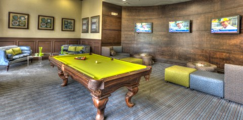 The Village at Lake Lily Billiards Table in Game Room