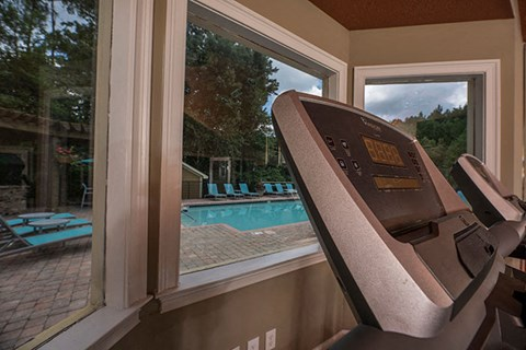 Renaissance at Galleria View of Pool from Fitness Center