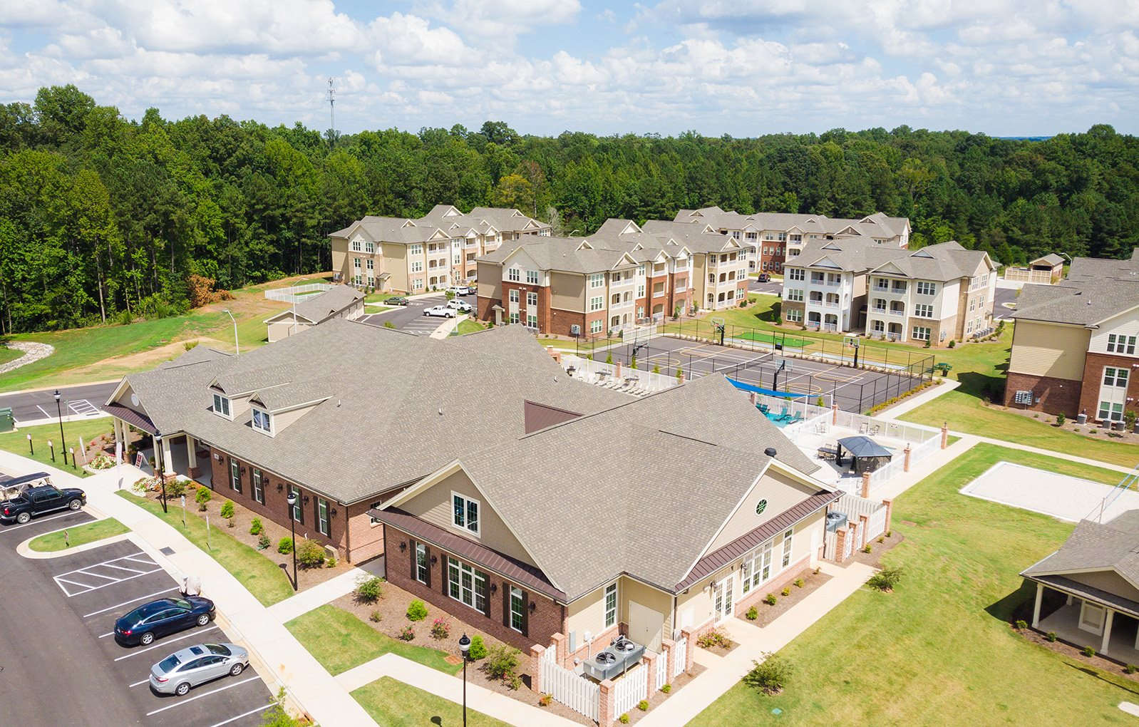 Village at McCullers Walk apartments aerial
