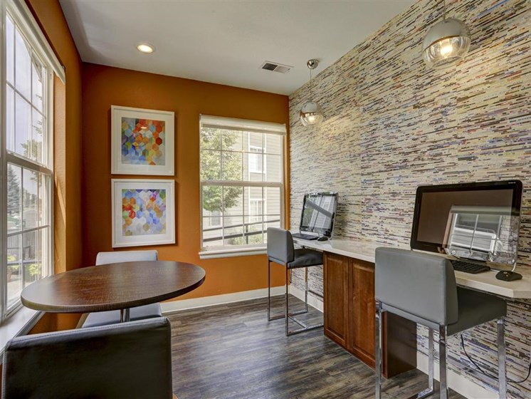 cyber cafe area with computer access for resident in denver co
