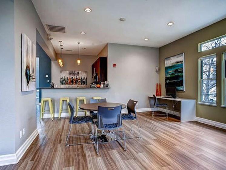 communal area at apartment building