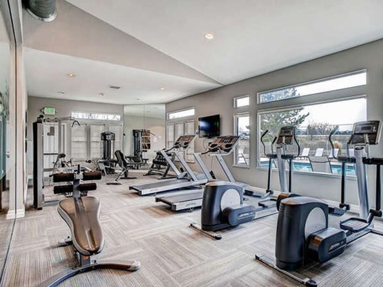 gym in apartment building in lakewood