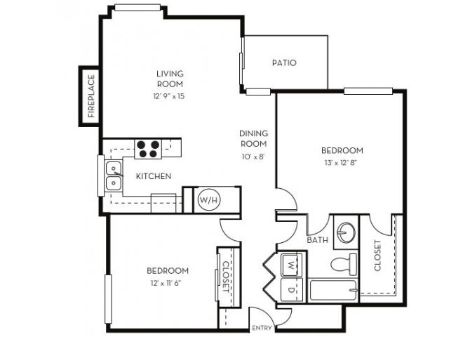 1 2 bedroom apartments in lakewood co the hamptons - One bedroom apartments lakewood co ...