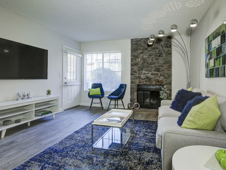 living room area at apartment unit in lakewood colorado