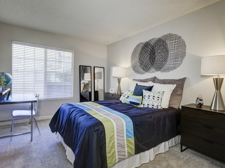 bedroom interior view at apartments in lakewood