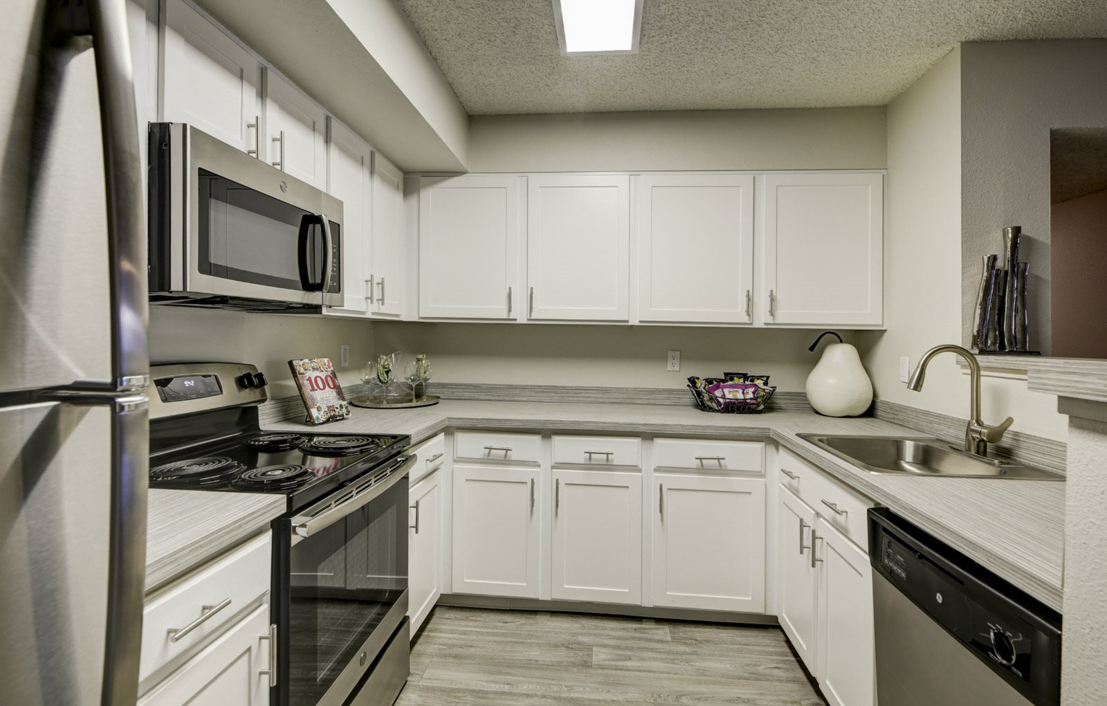 large kitchen space in apartment unit