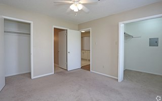 Pecan Acres Apartments in Lake Charles bedroom with ample closet space