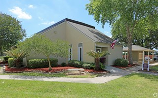 Pecan Acres Apartments in Lake Charles leasing office and clubhouse