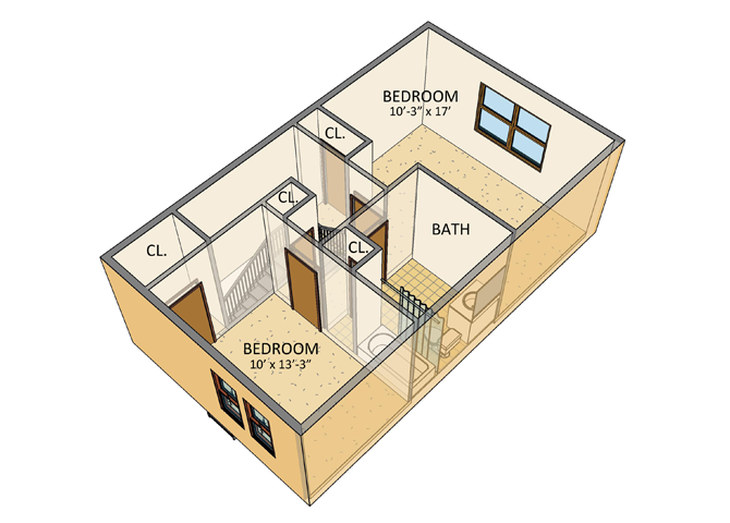 ellicott homes 2 bedroom townhouse 2nd floor plan - Second Floor Floor Plans 2