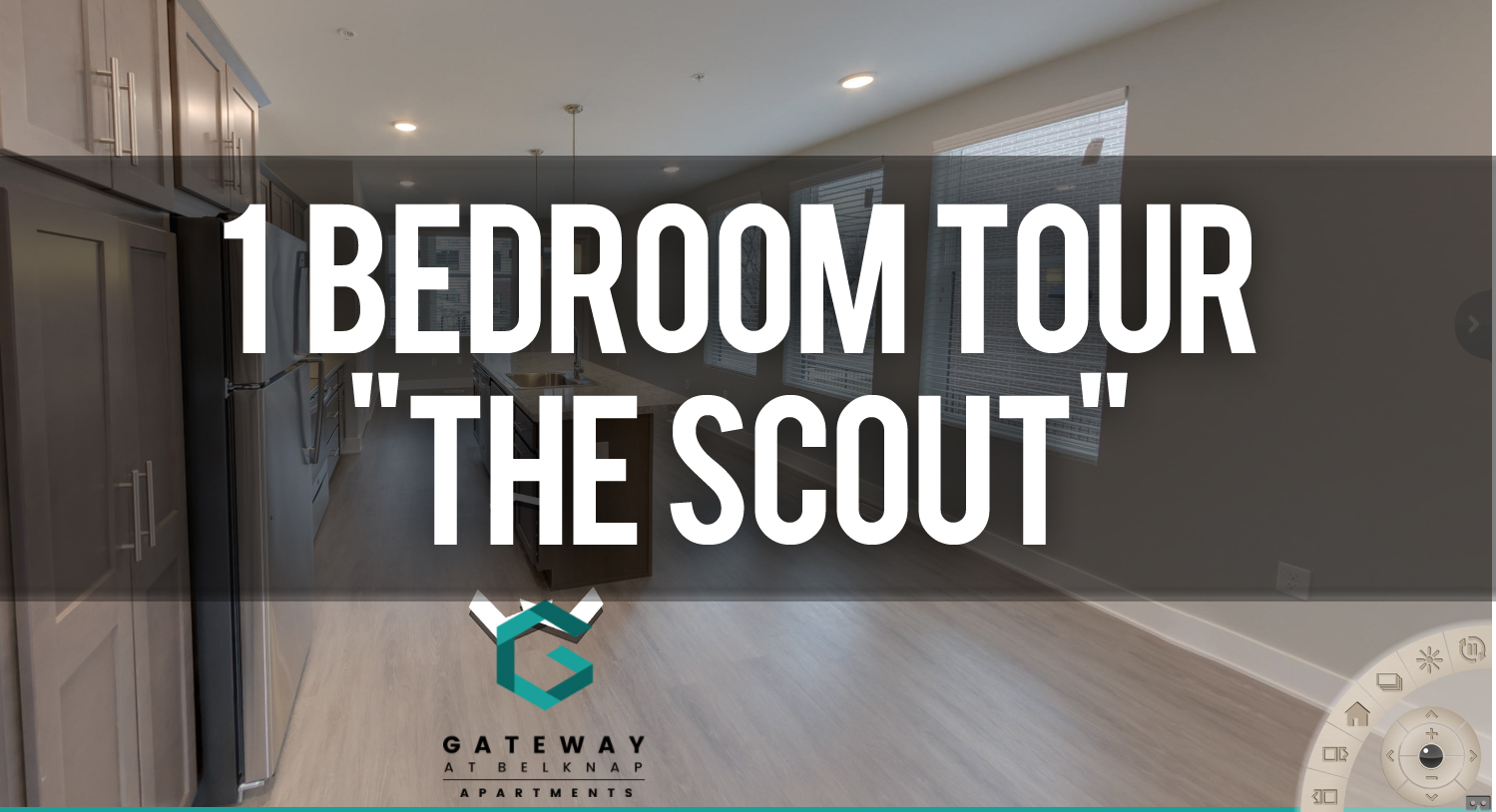 Virtual Tour of 1 Bedroom Scout Floorplan at Gateway at Belknap Apartments
