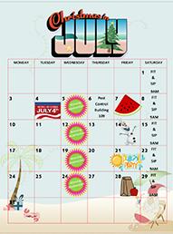 Runaway Bay July 2017 Calendar