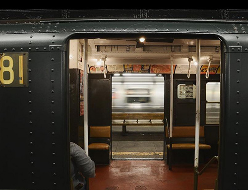 Vintage Subway Train in NYC