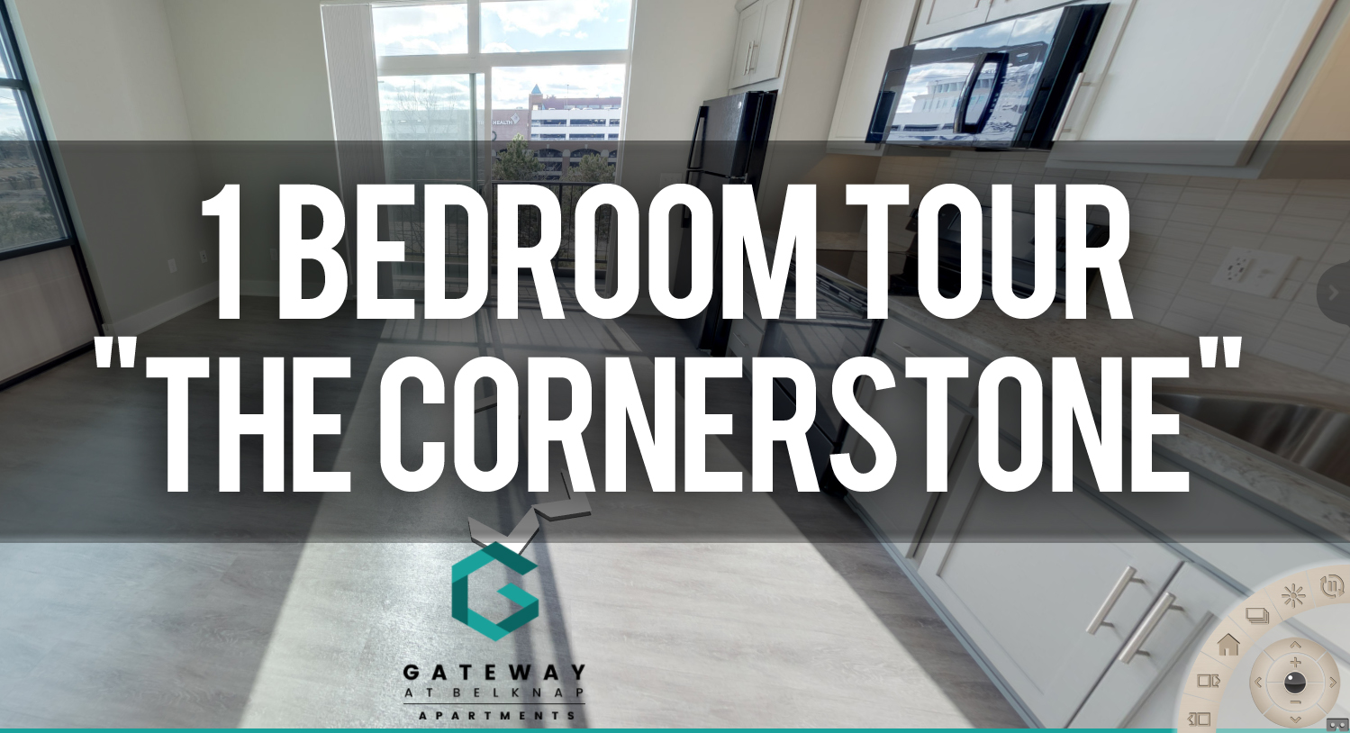 Virtual Tour of Cornerstone 1 bedroom floorplan at Gateway at Belknap