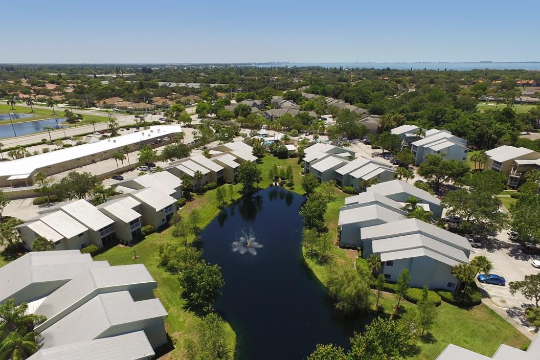 Coral Club Apartments Aerial View - Bradenton FL