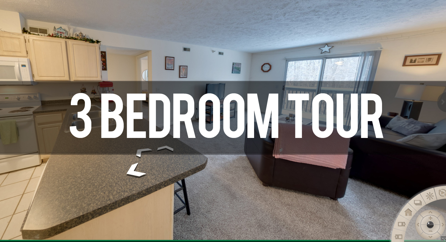 Virtual Tour of 3 Bedroom Apartment at Park Place Apartments