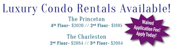 Condo Rentals Available!