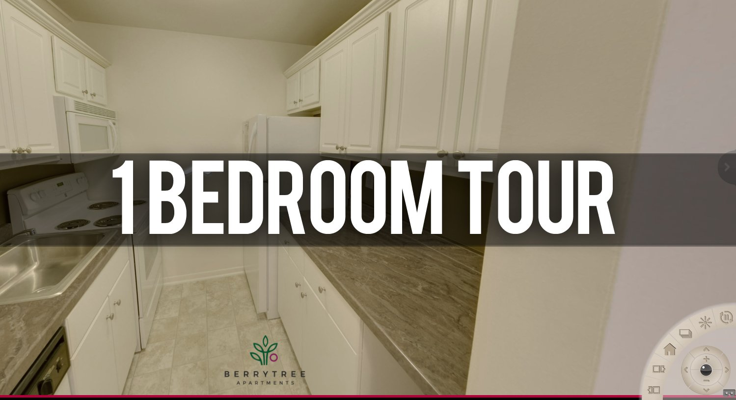 Virtual Tour 1 Bedroom Apartment Berrytree Apartments near Michigan State University