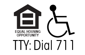 Equal Housing Opportunity Logo, Handicap Accessible Logo, TTY: Dial 711