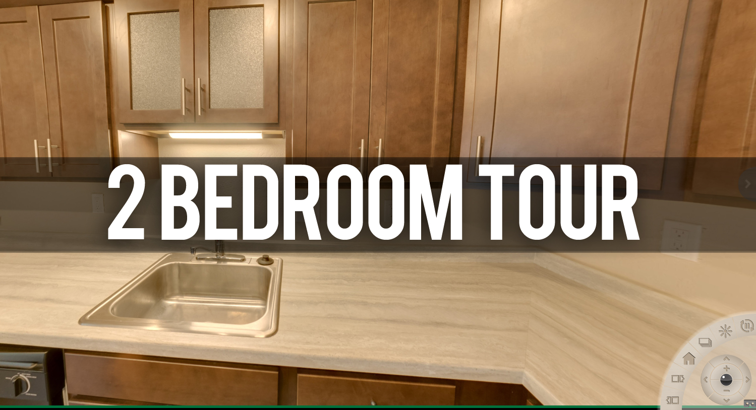 2 bedroom virtual tour Glenwood Apartments near Michigan State University