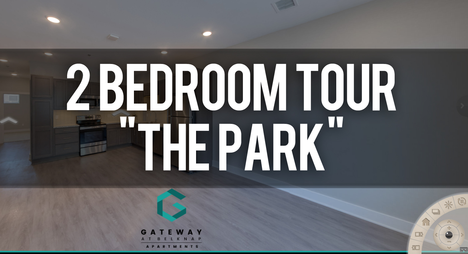 Virtual Tour of The Park 2 Bedroom floorplan at Gateway at Belknap Apartments