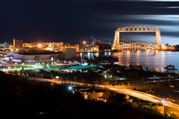 Duluth night skyline