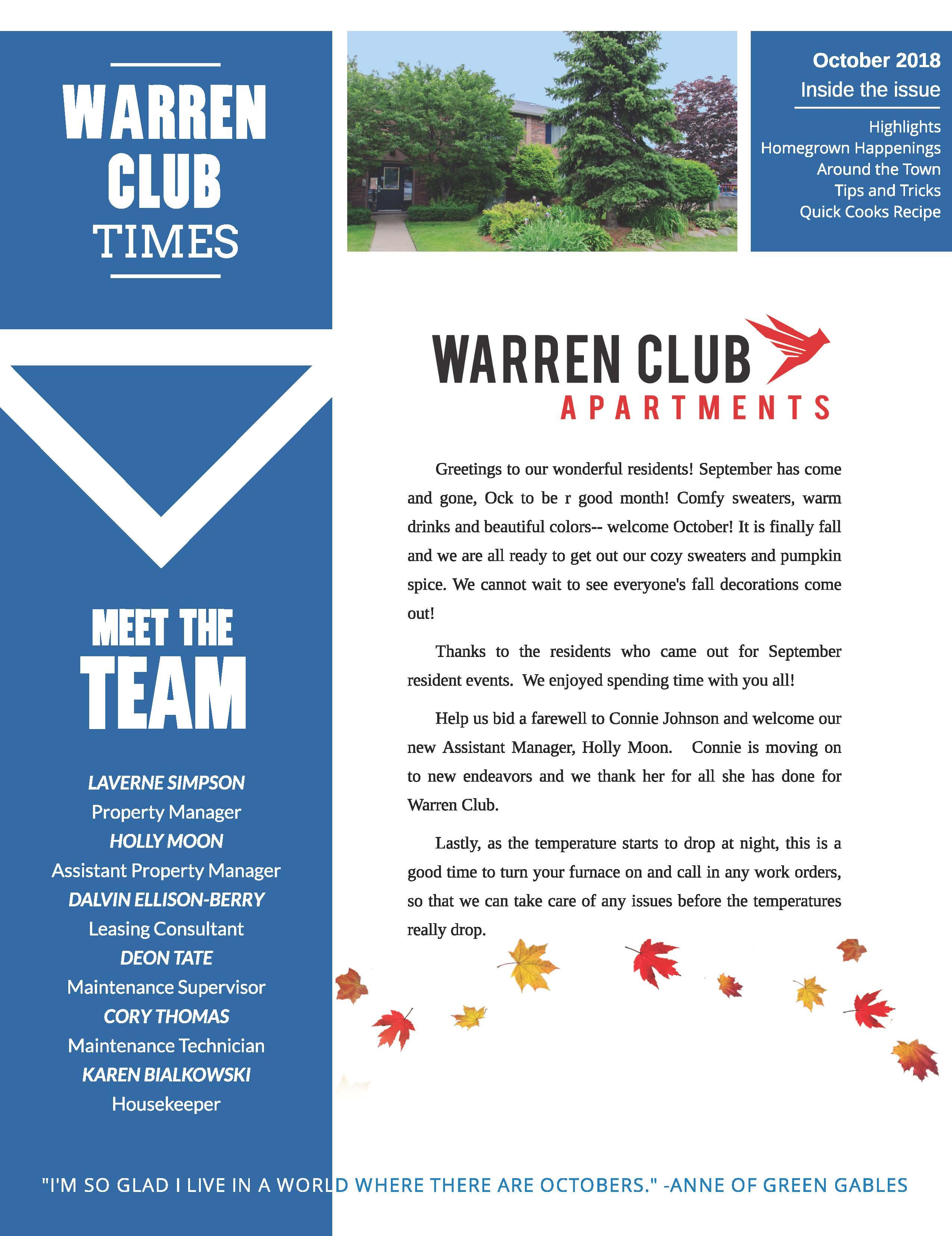 The Warren Club Community