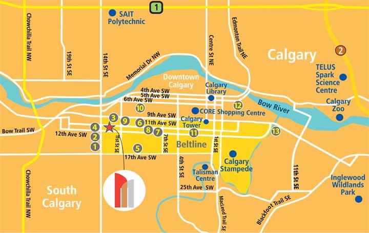 Beltline Apartments Calgary Ab The Metropolitan S