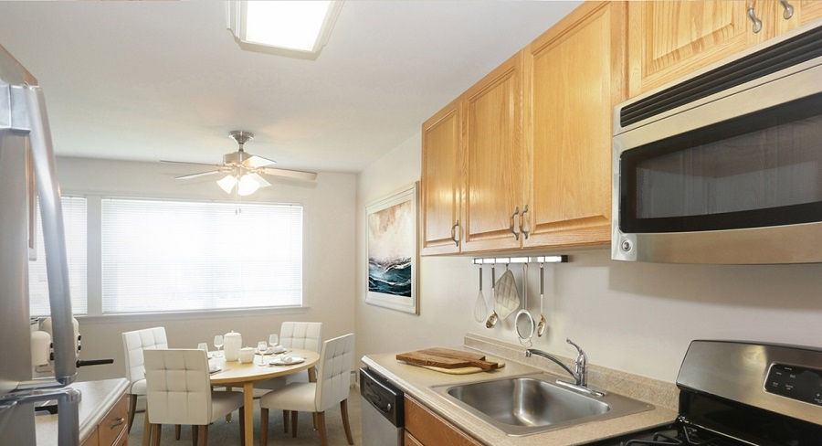 Galley Kitchen At Heatherwood's Colony Park