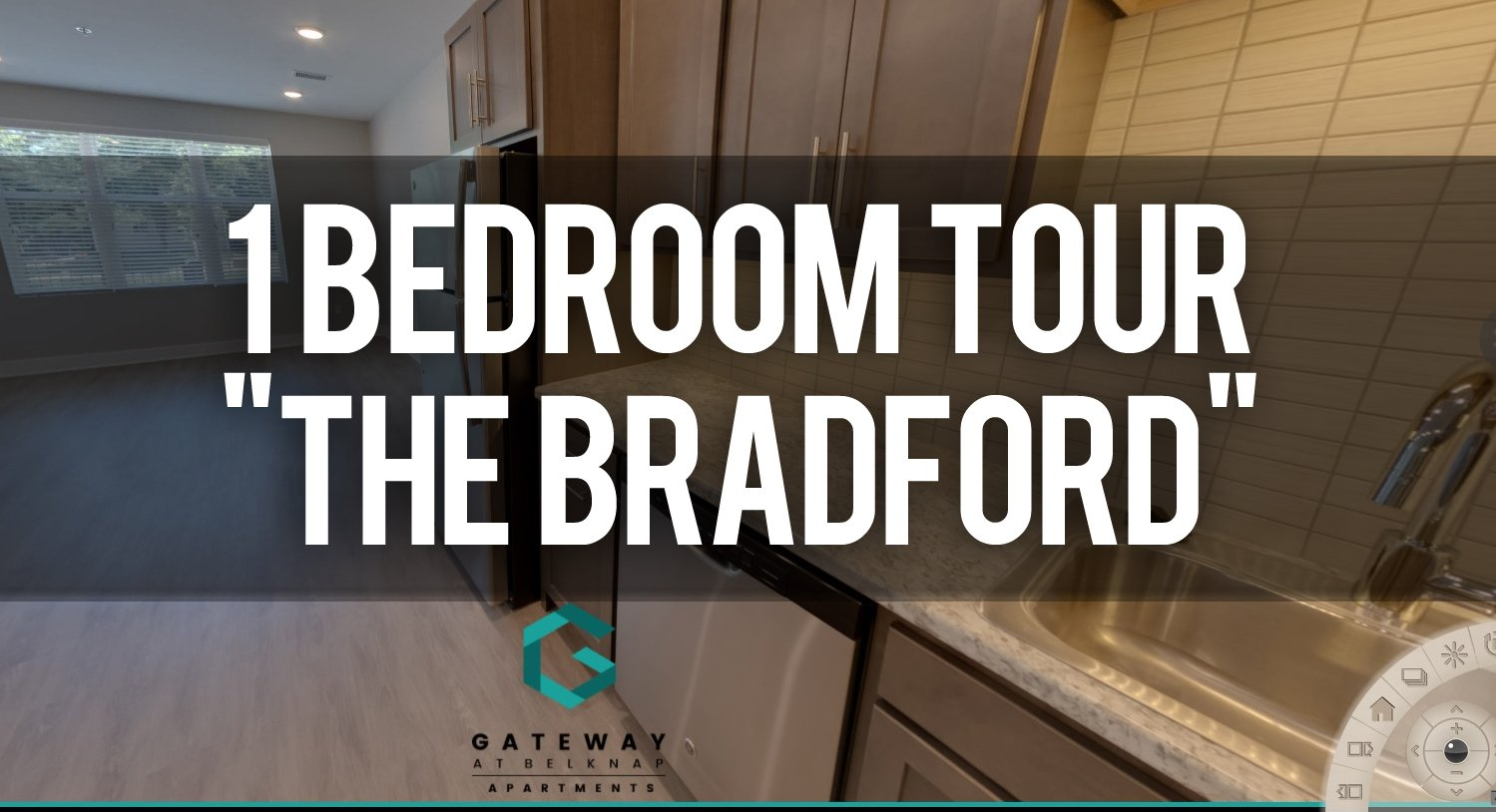 Virtual Tour of The Bradford 1 Bedroom Floorplan at Gateway at Belknap Apartments