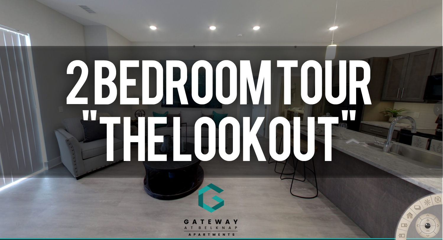 Virtual Tour of the Lookout Floorplan at Gateway at Belknap Apartments