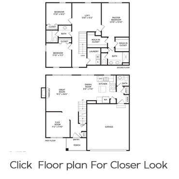 Hatfield Floorplan Homes for Rent in Holt, Michigan