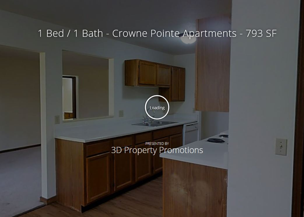 3D Tour of One Bedroom Crown Pointe Apartment Home