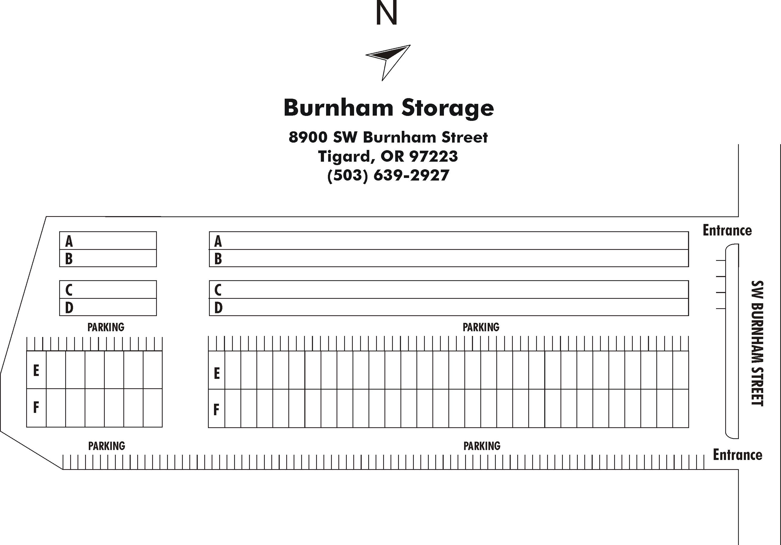 Burnham Business and Storage property map