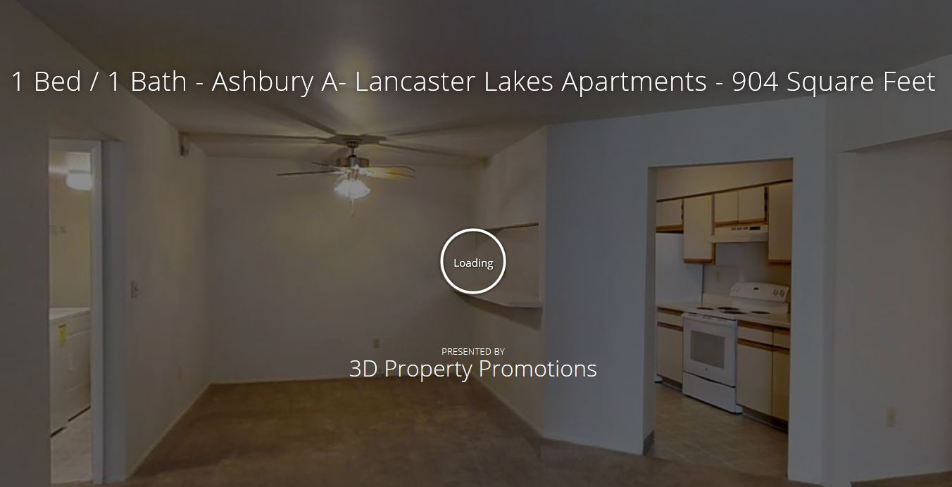 3D Tour of 1 Bedroom Apartment Home at Lancaster Lakes